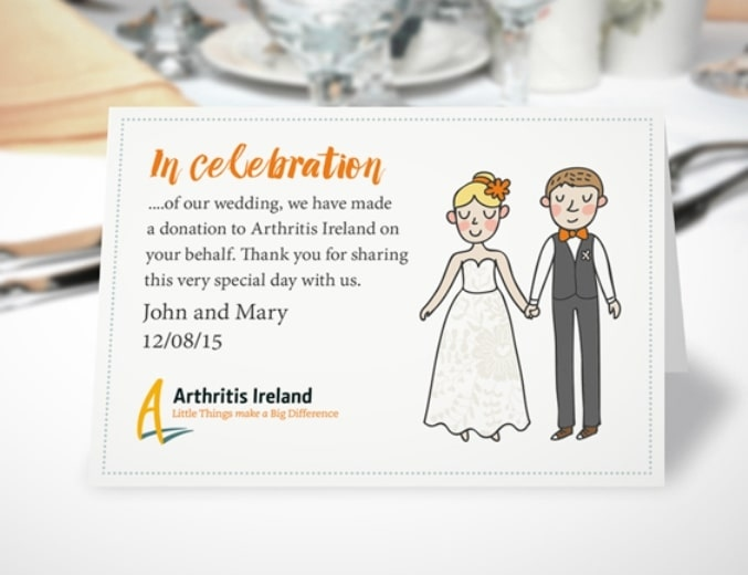 Wedding Charity Favour Cards