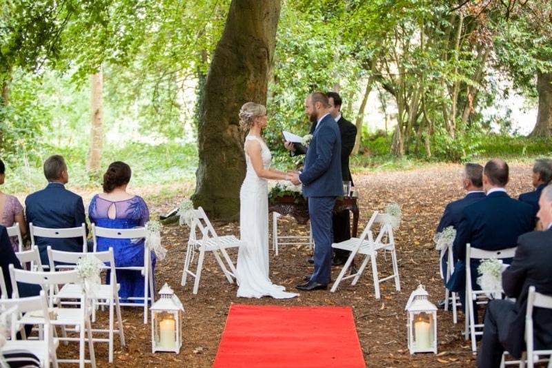 Woodland Wedding Ceremony Lucan Spa Hotel